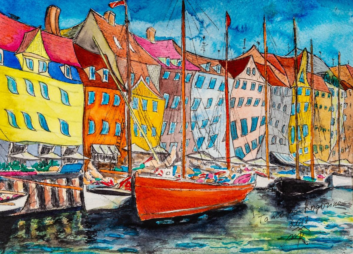Copenhagen 2, watercolor, 2017