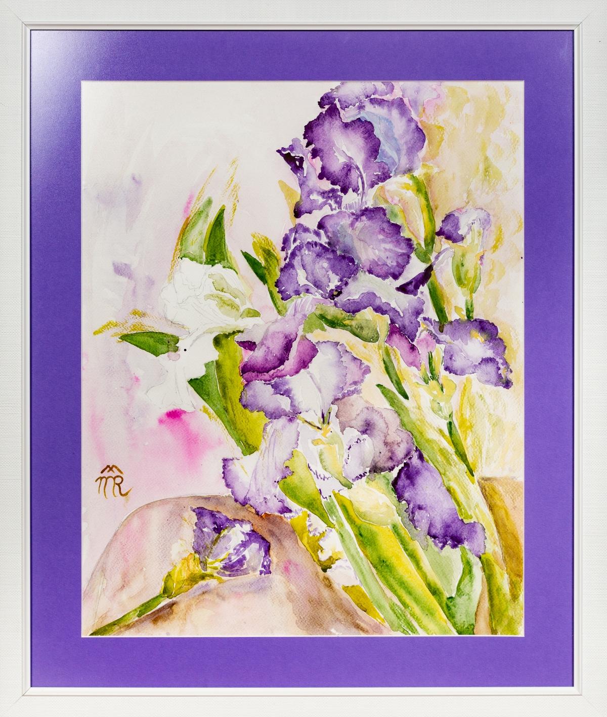 Irises 1, watercolor. 2014